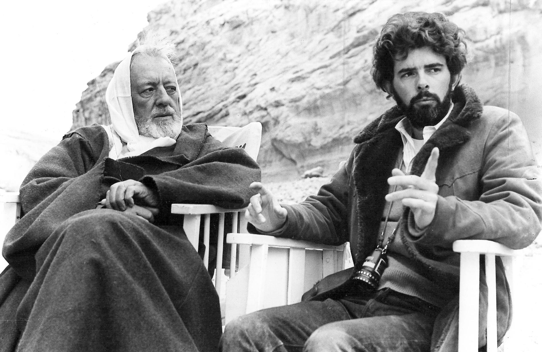 Sir Alec Guiness & George Lucas