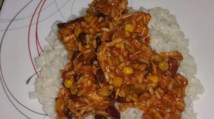 The Cli3nt's Shredded Taco Chicken Chili Rice